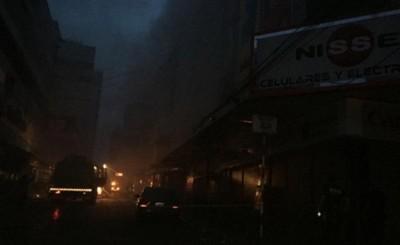 Shopping Hijazi arde en llamas