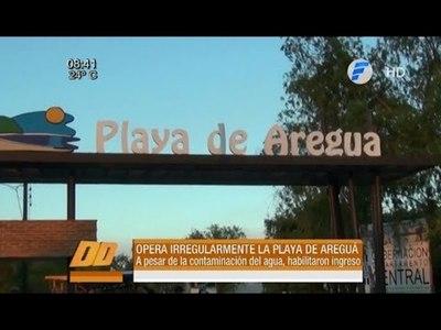 La playa de Areguá opera irregularmente