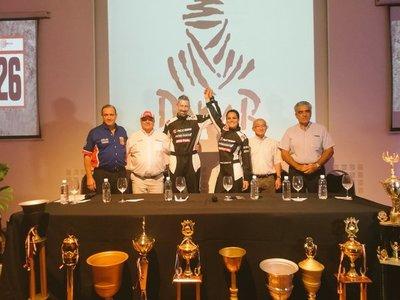 Andrea Lafarja presentó su equipo para el Dakar 2019