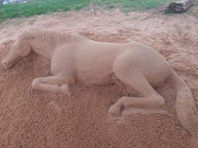 Harán primer concurso de escultura en arena en la playa Mbói Ka'ê
