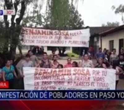 Pobladores de Paso Yobái exigen mejor asistencia médica en la zona