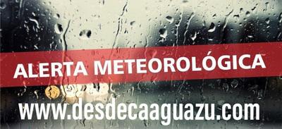 Alerta meteorológica para 5 departamentos de la Región Oriental