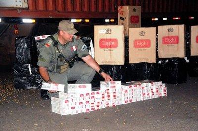 Requisan cigarrillos paraguayos en Posadas