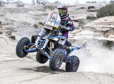 Nelson Sanabria desciende lugares en el Dakar