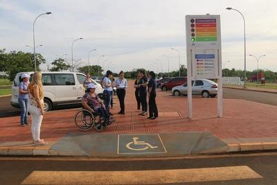 Verifican lugares turísticos de Alto Paraná para adecuar a personas con discapacidad