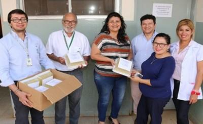 Donan 3.500 sueros fisiológicos a hospitales del Alto Paraná