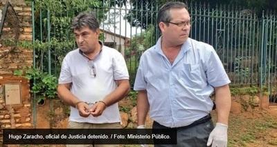 Oficial de justicia fue detenido por supuesto pedido de coima