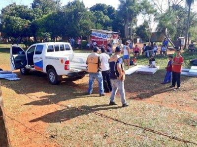 Tormenta en Ypané dejó 36 familias afectadas