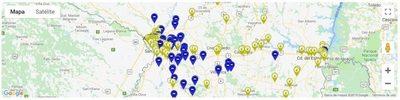 Mapa de hospedajes a un click de distancia