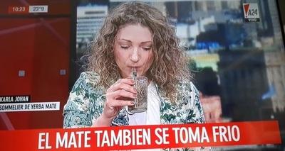 """Presentan el """"mate frío"""" en TV Argentina"""