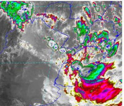Persiste alerta de tormentas para ocho departamentos