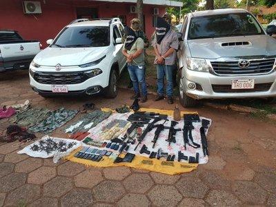 Detienen a dos delincuentes vinculados a secuestros exprés en Amambay