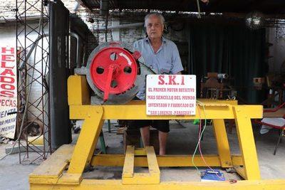 Invento mecánico se patenta con el reciclaje