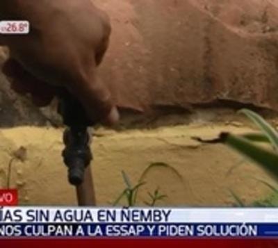 Vecindario pide solución de la Essap tras 13 días sin agua