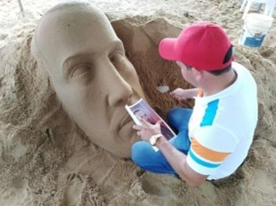 I Concurso de Escultura en Arena se realizó en playa de Encarnación