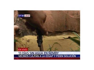 Desde hace 13 días están sin agua potable en Ñemby