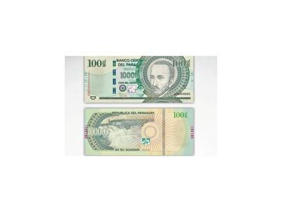 Aparecen billetes de G. 100.000 con una de las caras legal y la otra   falsa