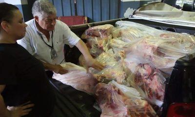 Incautan 400 kilos de carne de contrabando en el puente de la Amistad