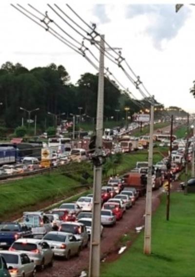Patrulla Caminera no maneja problemas de tránsito vehicular en Ciudad del Este