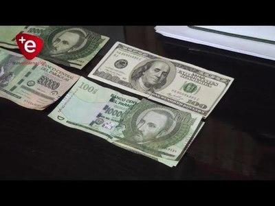 Alertan sobre billetes que son mitad auténticos y mitad falsos