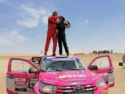 Histórico: Andrea Lafarja logra terminar el Dakar