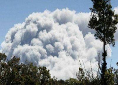 Erupción de un volcán en una isla suroeste de Japón
