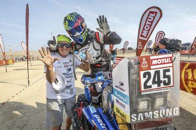 Sanabria conquistó la sexta medalla en el Dakar