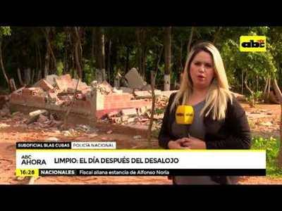 Limpio: El día después del desalojo