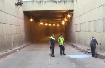 Retiran los vehículos del túnel Semidei