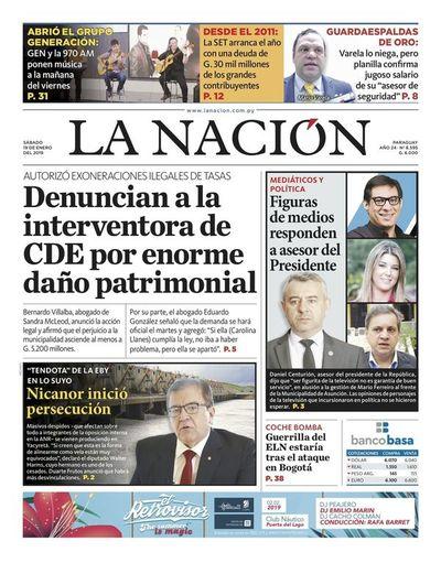 Edición impresa, 19 de enero de 2019