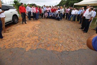 Ultiman detalles para construcción de asfalto en Juan Manuel Frutos