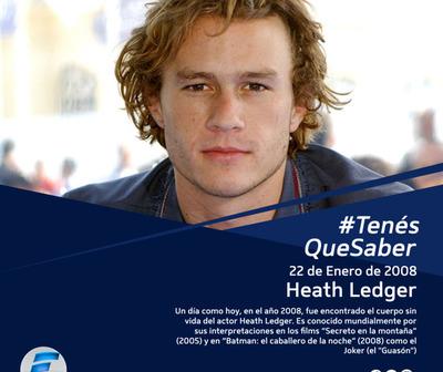 Un día como hoy, pero en el 2008, fue hallado muerto el actor Heath Ledger