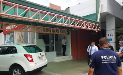 HOY / En el 'nuevo centro de Asunción' dos hombres asaltan banco y se llevan más de G. 1.000 millones