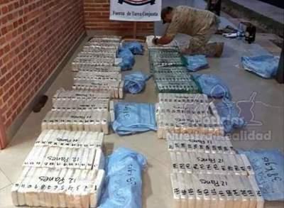 Duro golpe al narcotráfico: incautan casi 400 kilos de cocaína en Puentesiño