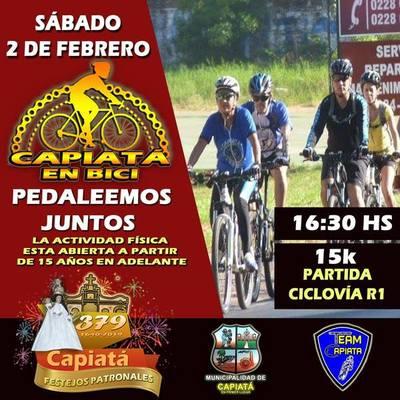 Festejarán aniversario de Capiatá pedaleando