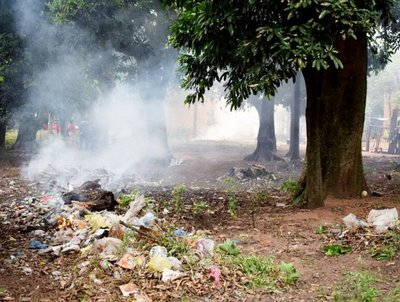 Quejas por quema de basura
