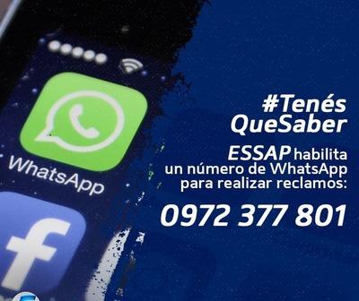 Essap habilita Whatsapp para realizar reclamos