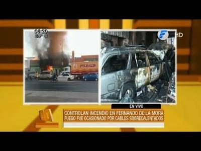 Incendio en una funeraria de Fernando de la Mora