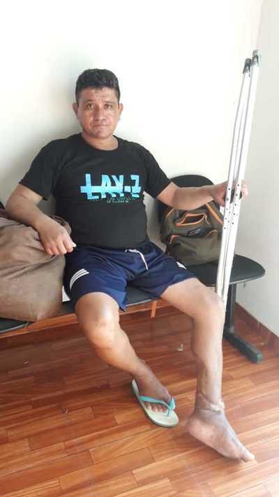 Hombre solicita ayuda tras sufrir accidente y no tener familiares – Prensa 5