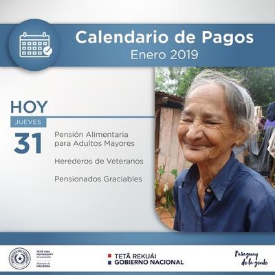 Hacienda pagará a pensionados y adultos mayores
