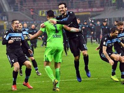Lazio elimina al Inter en los penales y se mete en semifinales