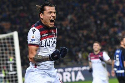 Federico Santander le dio la victoria al Bologna ante el Inter