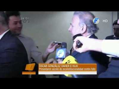 González Daher e hijo presentaron acción de inconstitucionalidad