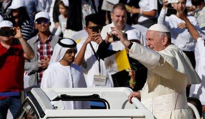El papa Francisco culmina su histórica visita a EAU