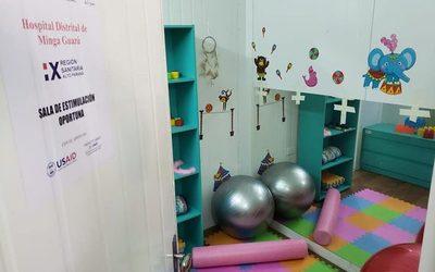 Habilitan sala de estimulación oportuna en hospital de Minga Guazu