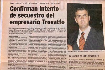 Marco Trovato y un recuerdo de terror: su fallido secuestro en el 2005