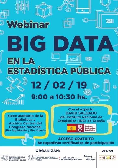 """DGEEC y STP organizan webinar """"Big Data en la Estadística Pública"""""""