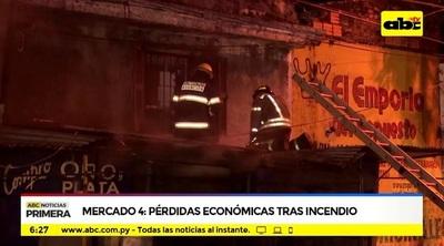 Bomberos logran sofocar incendio en el Mercado 4