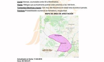 Alerta meteorológica para 13 departamentos – Prensa 5