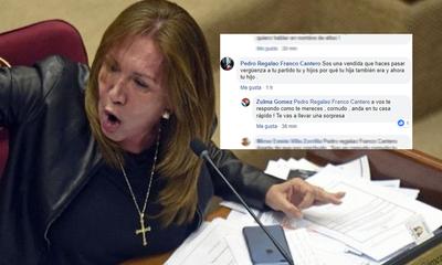 Senadora trata de cornudo a internauta – Prensa 5